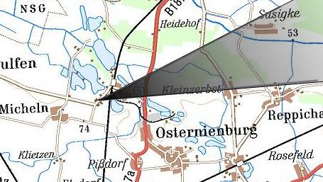 Streufeldkarte